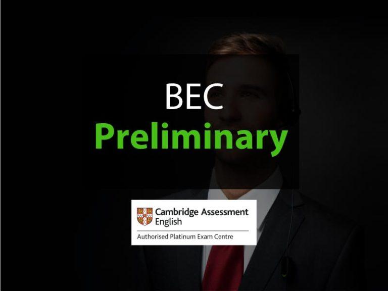 esame Cambridge BEC preliminary