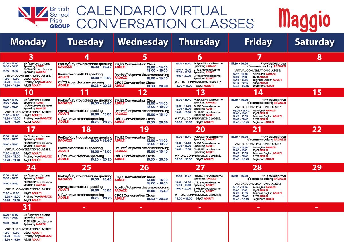 Calendario eventi Pisa