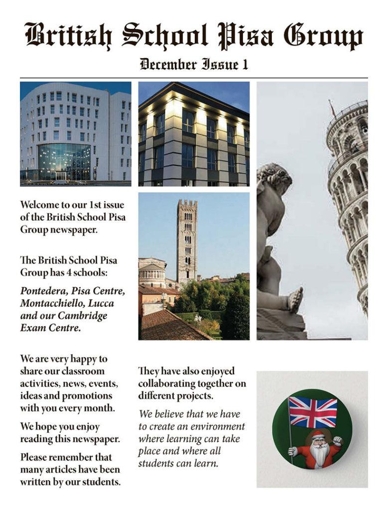 Newspaper British School Pisa